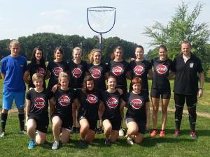 Mannschaftsfoto unserer Korbball Damen